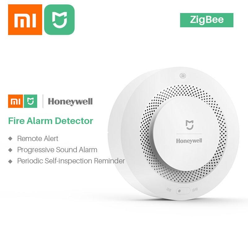 Xiaomi Mijia Honeywell مستشعر كاشف للدخان, إنذار مرئي مسموع يعمل مع تطبيق Mi Home عن طريق الهاتف