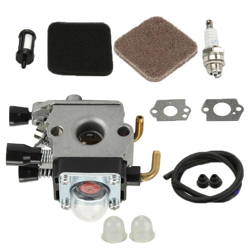 Filtro de combustible de aire de carburador para Stihl FS85 FS75 FS80 KM85 HS75 HS80 HS85 Kit de herramienta
