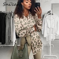 snican leopard print blouse women spring long sleeve turn down collar office ladies satin shirts blusas de mujer chemise za 2021