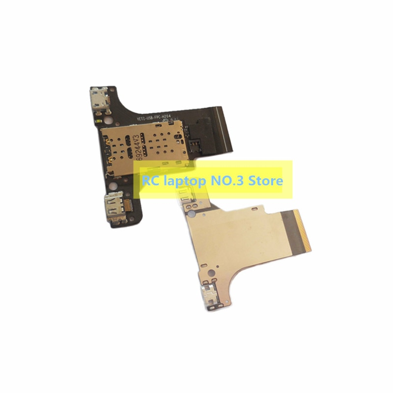 Original para libro de yoga YB1-X90F puerto de carga USB enchufe lector MICRO SD Placa de cable FPC prueba de YETI-USB-FPC-H204 buen envío gratis