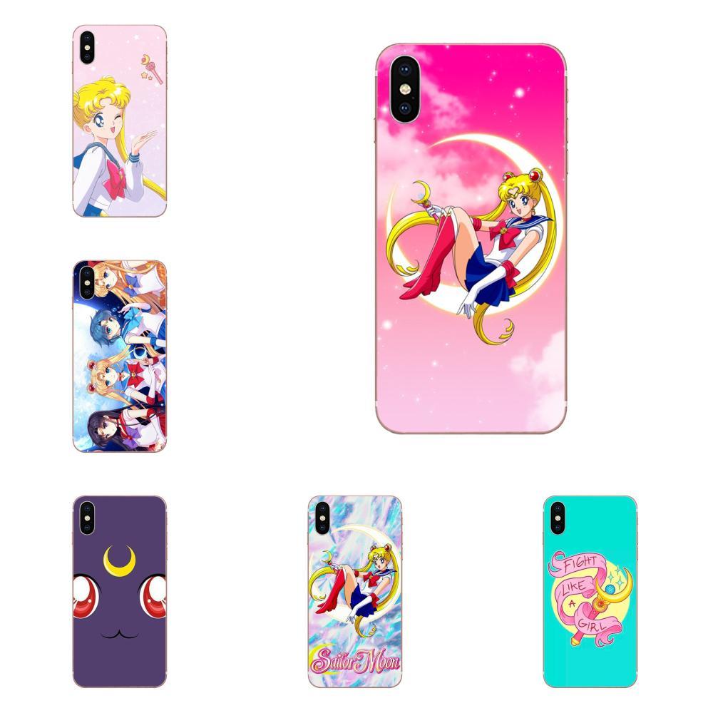 Rosa Anime japonés Sailor Moon para Galaxy Nota 10 Pro A10 A20 A20E A30 A40 A50 A60 A70 A80 A90 M10 M20 M30 M40