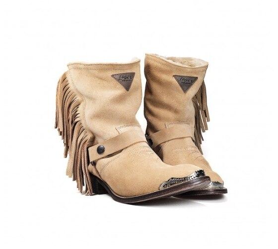 Women Boots Flats Casual Single Shoes Woman Vintage Fringe  West Boots Sandalias Mujer Sapato Feminino LP712