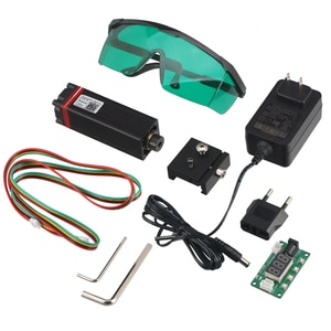 20W Laser Module DIY Kit Professional 450nm 5.5W Laser Cutting Engraving Module with TTL PWM Modulation Compatible with Arduino
