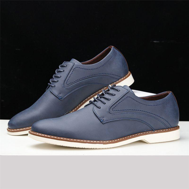 2021 جديد الخريف بولي Pu الدانتيل يصل شقة القاع حذاء رجالي كاجوال الأعمال أحذية غير رسمية سيارة الخياطة بسيطة موضة رائجة البيع 3KC377