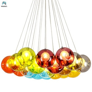 Nordic Living Room G4 Led Double Glass Chandelier Led Hanging Lamp Lustre Modern G4 Suspend Lamparas Fixtures Luminarias