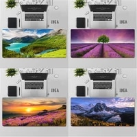 gaming mouse pad large mouse pad pc gamer computer mouse mat big mousepad keyboard desk mat nature landscape xxl mause pad
