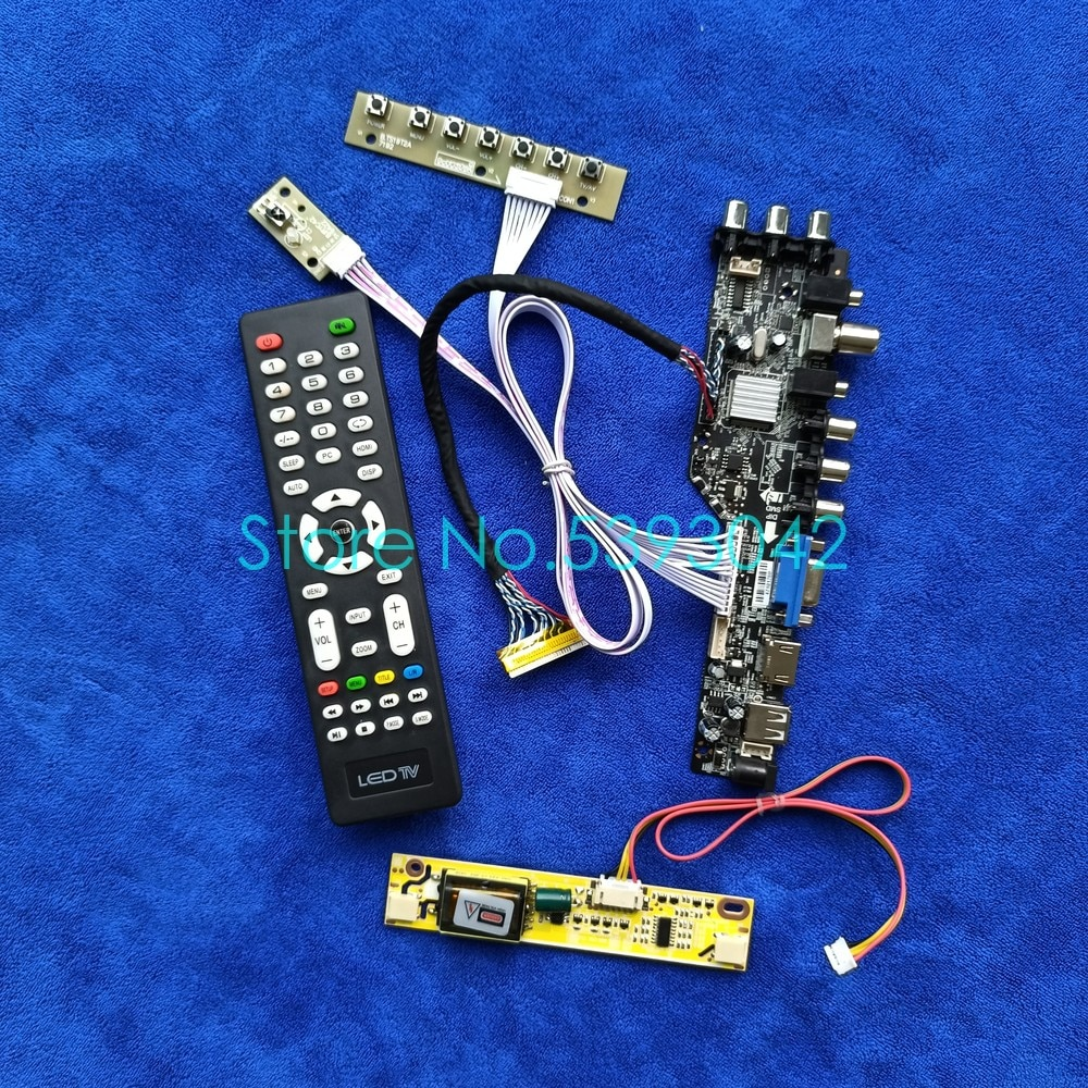 شاشة رقمية DVB-T, لـ M190PW01/B170PW02/B170PW04/B170PW07/B170WP04 شاشة DVB-T رقمية 1440*900 LVDS 30-Pin 2CCFL USB + VGA + AV مجموعة لوحة القيادة