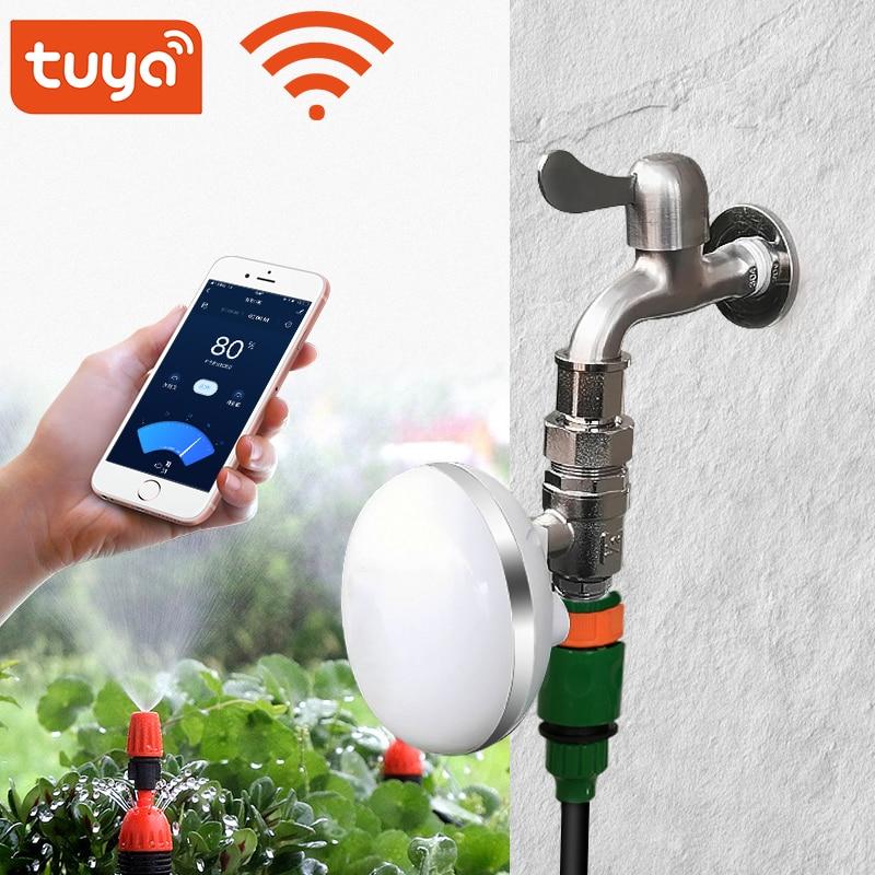 Tuya WiFi الذكية حديقة الري تحكم سقي توقيت صمام الري الموقت الذكية نظام الري العمل مع اليكسا ، جوجل