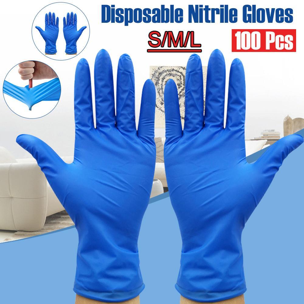 100 Uds guantes desechables de látex de goma para limpieza del hogar experimento guantes para catering universal