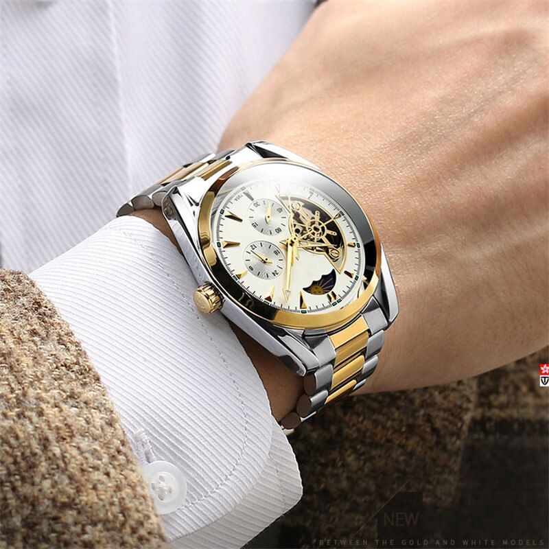 TEVISE الموضة الدولية للرجال ساعة ميكانيكية ساعة مقاوم للماء الأعمال انظر الميكانيكية ساعة أوتوماتيكية ساعات الموضة