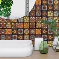 Autocollants muraux a bande de Mandala 10 15 20 30cm  carreaux de cuisine  salle de bains  ceramique  decor papier peint  peler et coller  Art Mural etanche