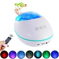 remote control lucky stone ocean projection light led colorful atmosphere night light usb multifunction bluetooth music player