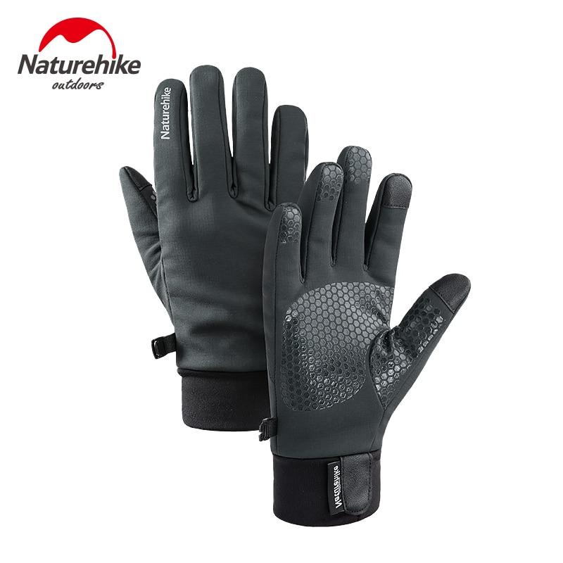 Naturehike invierno guantes de escalada al aire libre Cachemira guantes calientes pantalla táctil impermeable antideslizante guantes de ciclismo guantes deportivos