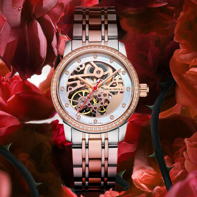 seagull Watches women's wrist watch 2021  automatic watch mechanical watches skeleton watch  317.15.6120KL