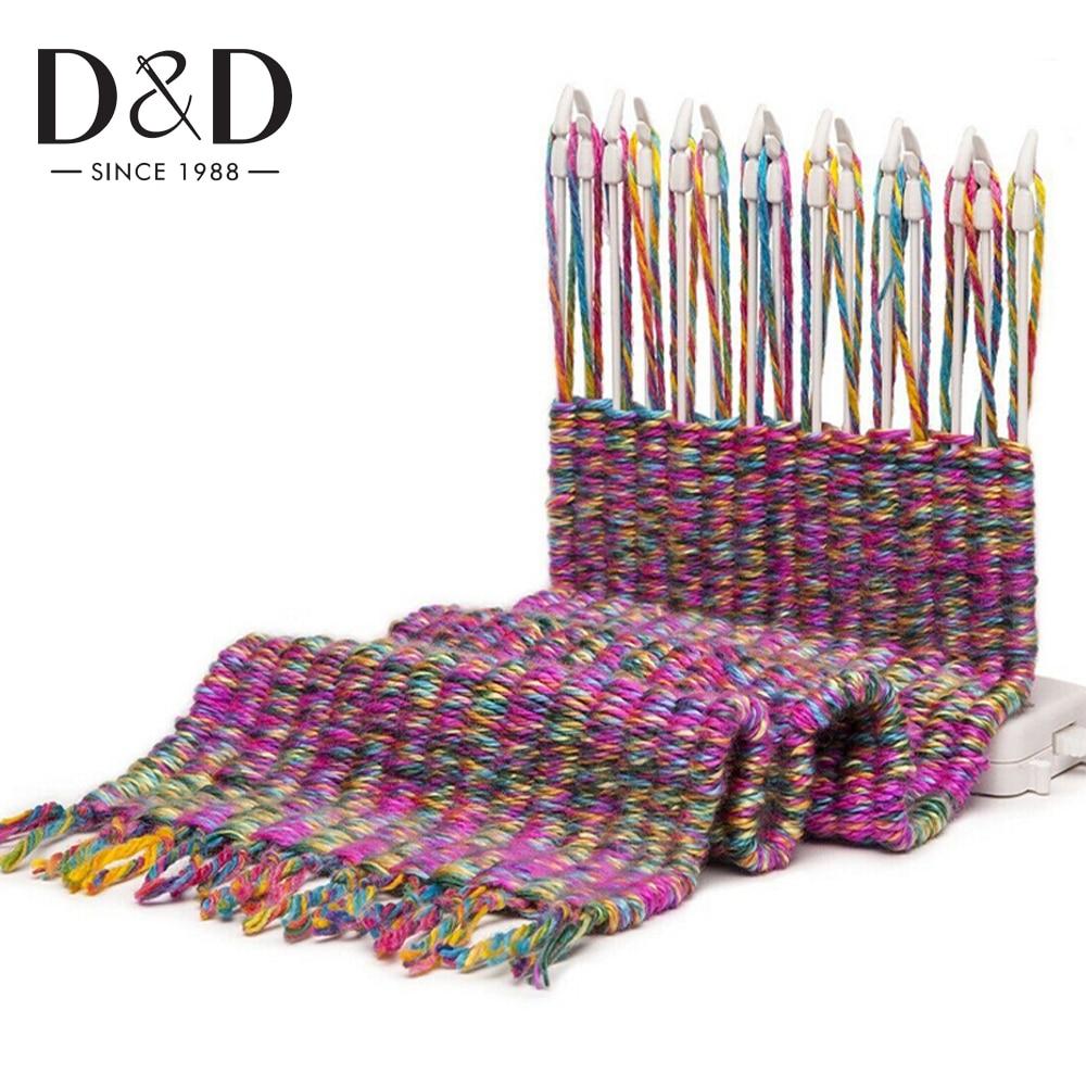 D & D вязальная машина для шарфов, вязанный ткацкий станок, набор инструментов для хобби, вязаная шерстяная пряжа, детские развивающие игрушки, рукоделие