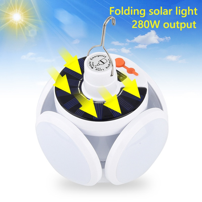 280W Solar LED Camping Lamp USB Rechargeable led Night Light Outdoor Emergency Lights Portable Searchlights Great Lantern
