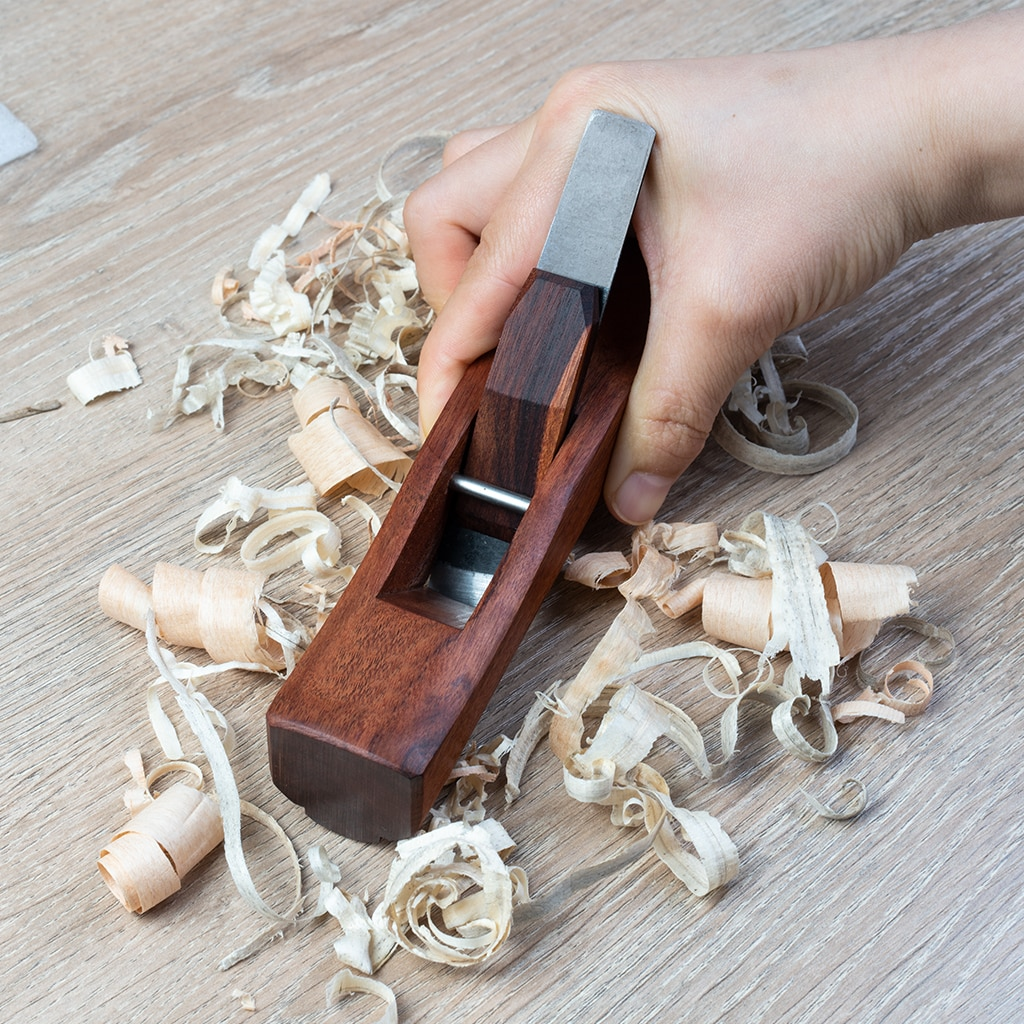 Hong Kong Style Rosewood Plane Planing Slotted Woodworking Plane Cutting Plane W/ HSS Blades enlarge