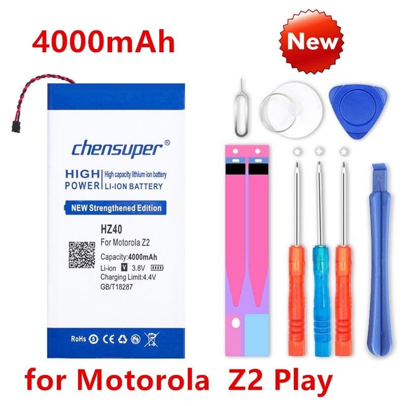 Chensuper original 4000 mah hz40 para motorola moto z2 jogar bateria sim duplo T1710-11 XT1710-08 xt1710 XT1710-06 XT1710-09 bateria