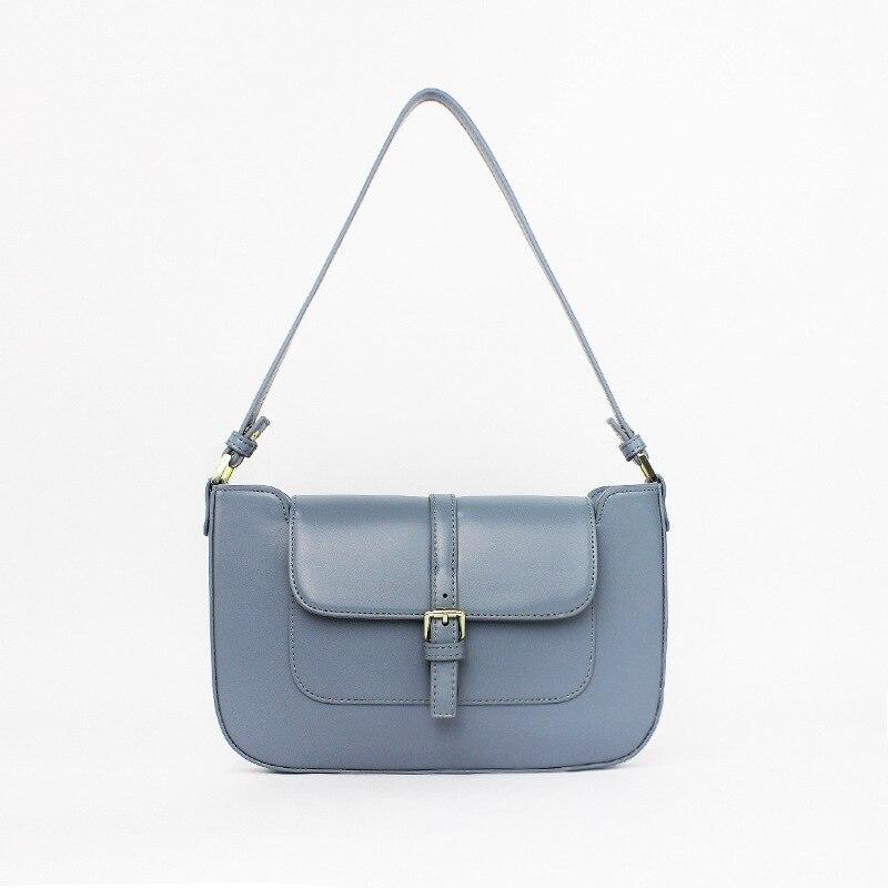 Classic Clutch Handbags for Women Embossed Crocodile Effect Shoulder Bag Underarm Purse Tote Blue
