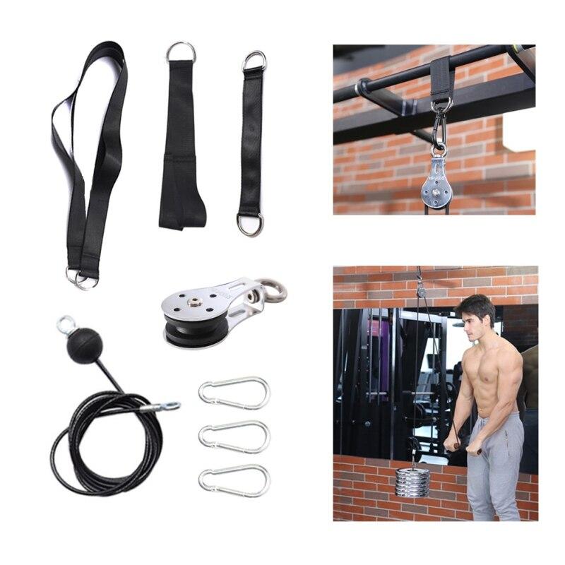 Máquina de Cable accesorios cuerda D-Manejar Cable Pully opcional para gimnasio equipo de levantamiento de peso de entrenamiento Accesorios