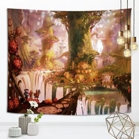 duofeiya boho decoration home decor forest series tapestry home decoration background wall living room bedroom background cloth