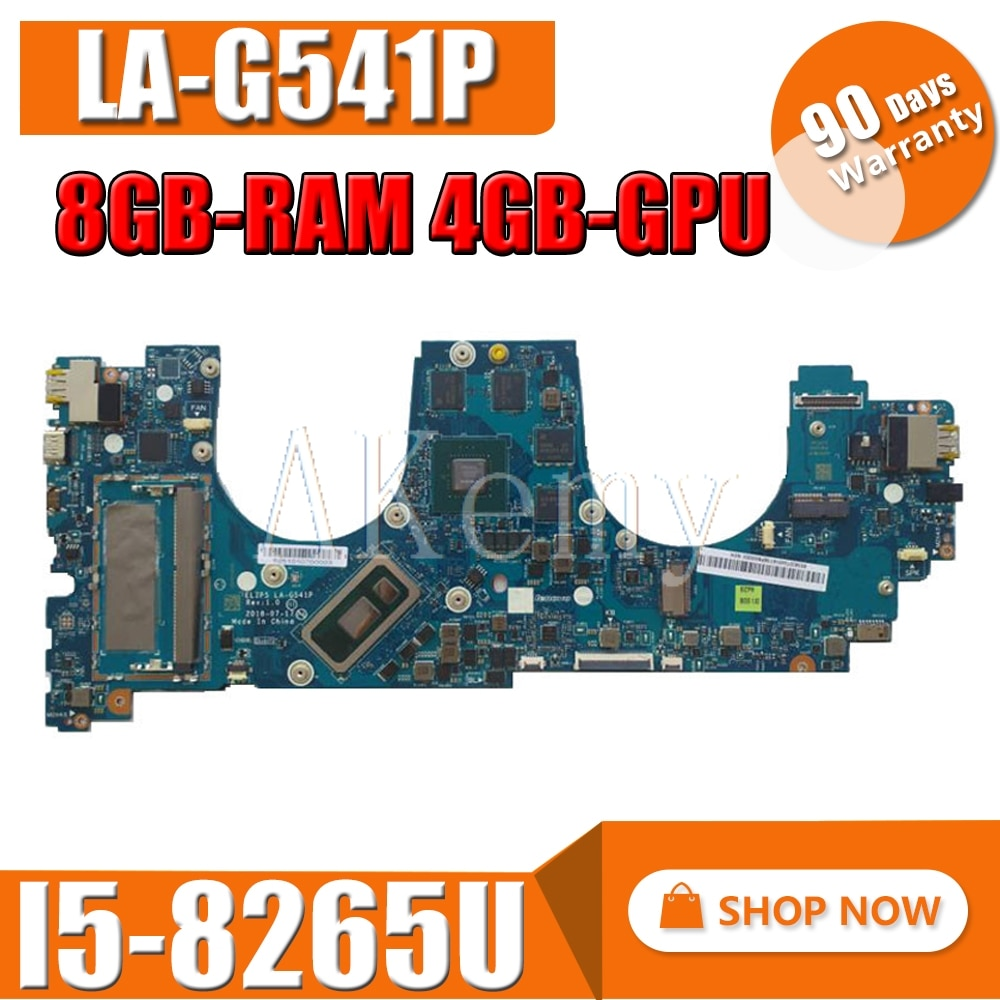 5B20T04901 For Lenovo  YOGA  730-15IWL  motherboard LA-G541P mianboard  100% fully tested  I5-8265U 8GB-RAM 4GB-GPU