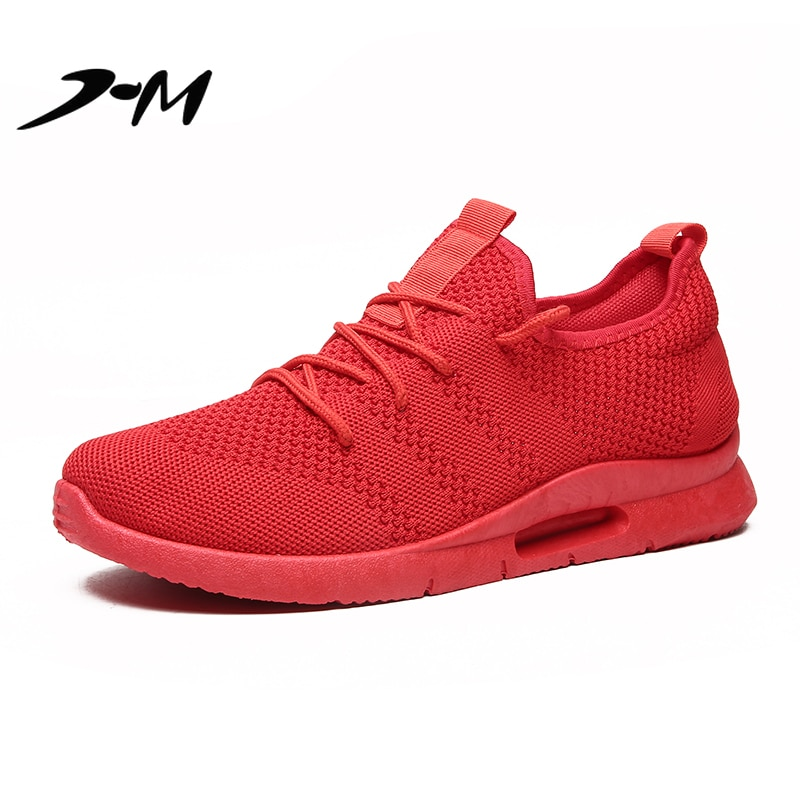 mens shoes casual sneakers white for women Lace-Up Spring/Autumn Casual breathable comfortable fashion red