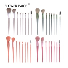 FLOWER PAIGE  8Pcs Horse Hair Makeup Brushes Tool Set Cosmetic Powder Eye Shadow Foundation Blush Bl