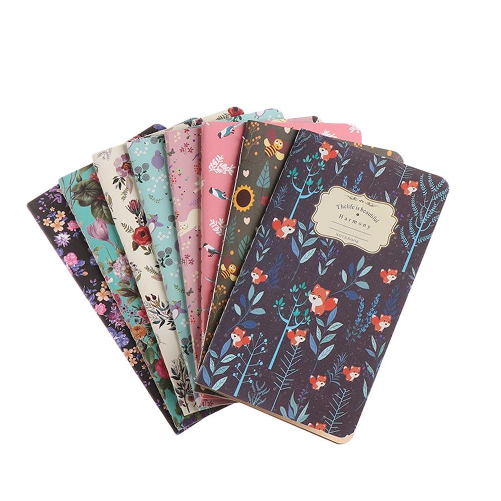 Cuaderno de papel Kraft Retro línea 48K Cuadernos de Color Bloc de notas pintado a mano Bloc de notas diario papelería suministros de oficina