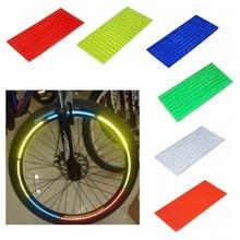 Bande réfléchissante fluorescente vtt vélo vélo roue jante autocollants réfléchissants bande adhésive vélo autocollants décalcomanie accessoires