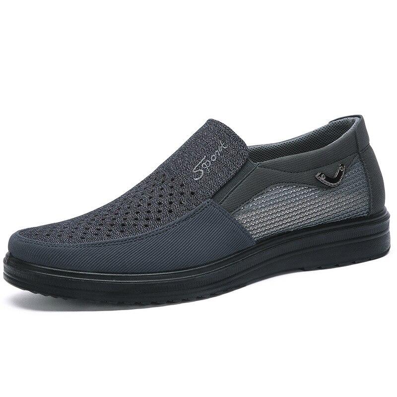 Mens Casual Schuhe Männer Turnschuhe Sommer Stil Mesh flache Schuhe Für Männer High-End-Casual Schuhe Sehr Bequeme Schuhe 38-48