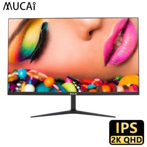 MUCAI 24/27 Inch 2K монитор 75 Гц настольный ПК с ЖК-дисплеем Дисплей игровое плоское Панель Экран компьютер светодиодный 2560*1440 HDMI/DP