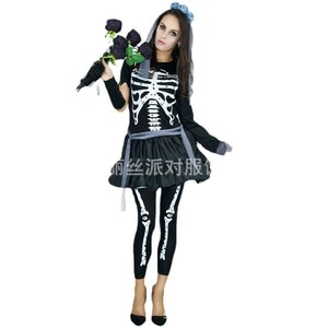 New Arrival Skeleton Costume Cosplay Halloween Costume for Women