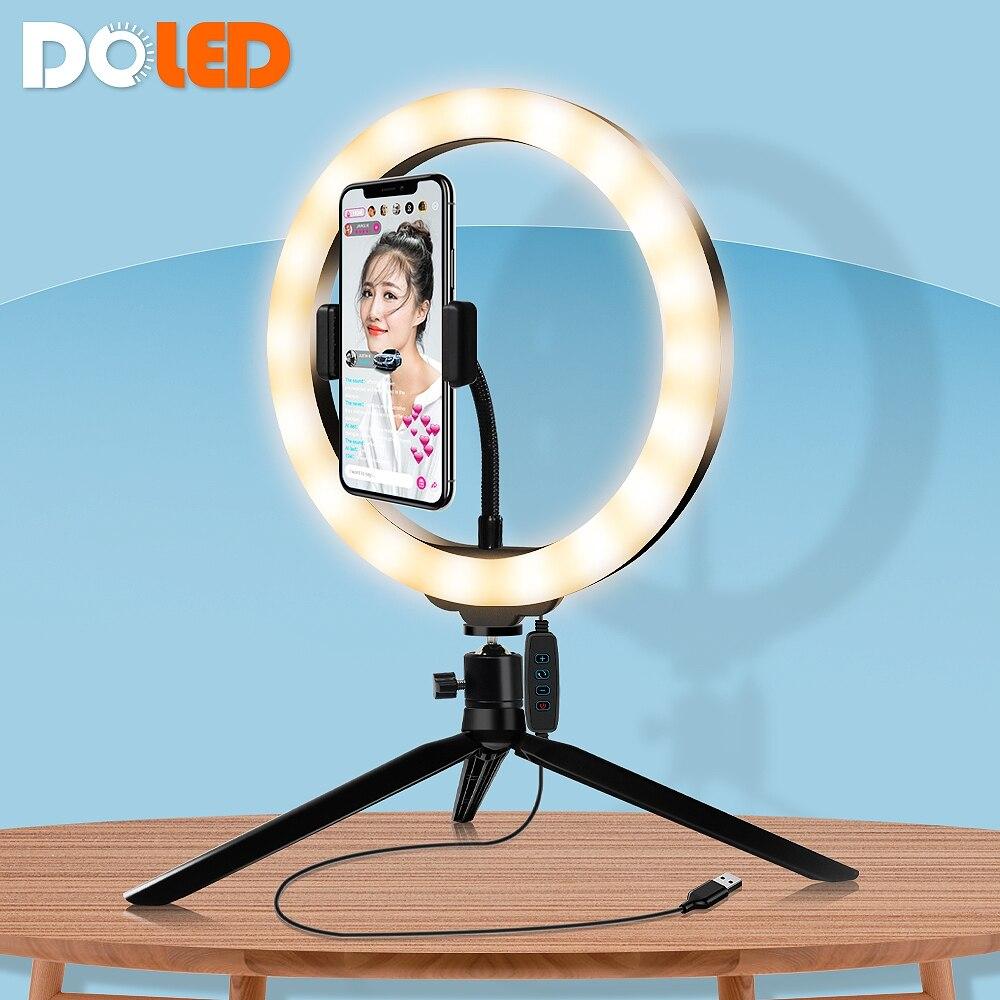 Кольцевой светильник 26 см для фотостудии, светильник для фотосъемки, светодиодный светильник, кольцевой светильник со штативом для фото-и в...