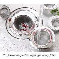 Filet anti-fuite en acier inoxydable  filtre devier de cuisine  nettoyeur de Drain de sol de salle de bains  maille de filtre de trou de vidange