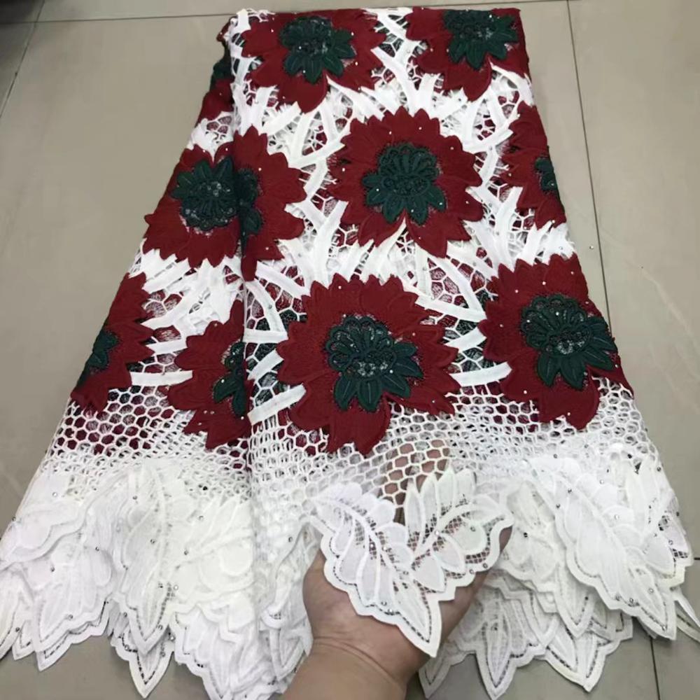 Tela de encaje africano NaXiu cómoda tela de seda de leche francesa alta calidad tela de encaje Soluble en agua nigeriana con piedras