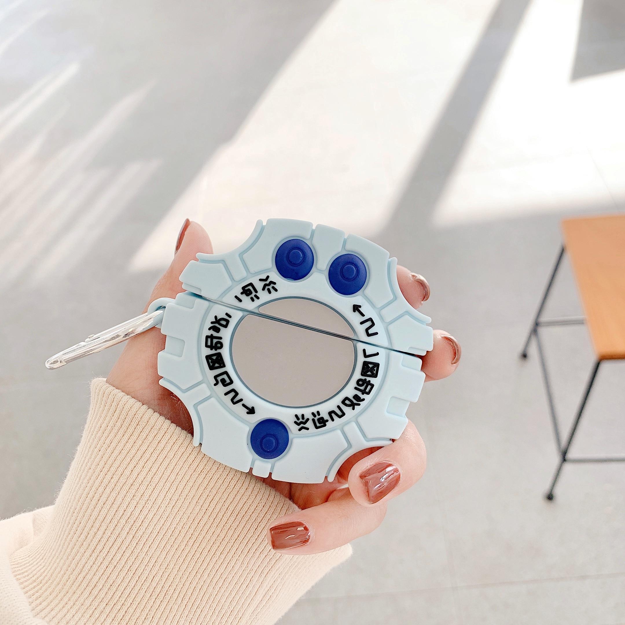 Funda de silicona 3D Dinimon Monster Digivice para auriculares Airpods 1 2, funda para auriculares inalámbricos Bluetooth, funda para Airpod Pro 3