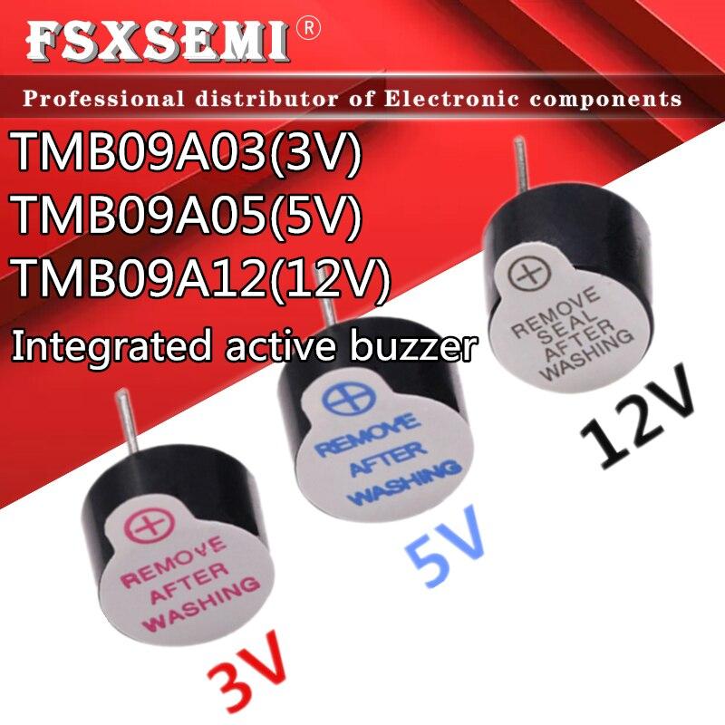 100 قطعة/الوحدة 0955 TMB09A03 3V TMB09A05 5V TMB09A12 12V المتكاملة النشطة الطنان الصوت 9*5 مللي متر 9 مللي متر * 5.5 مللي متر