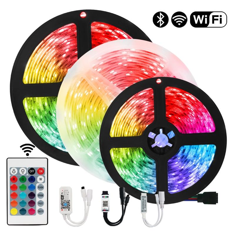 Tiras de luces LED RGB Iuces con Bluetooth 5050, SMD2835, diodo de...