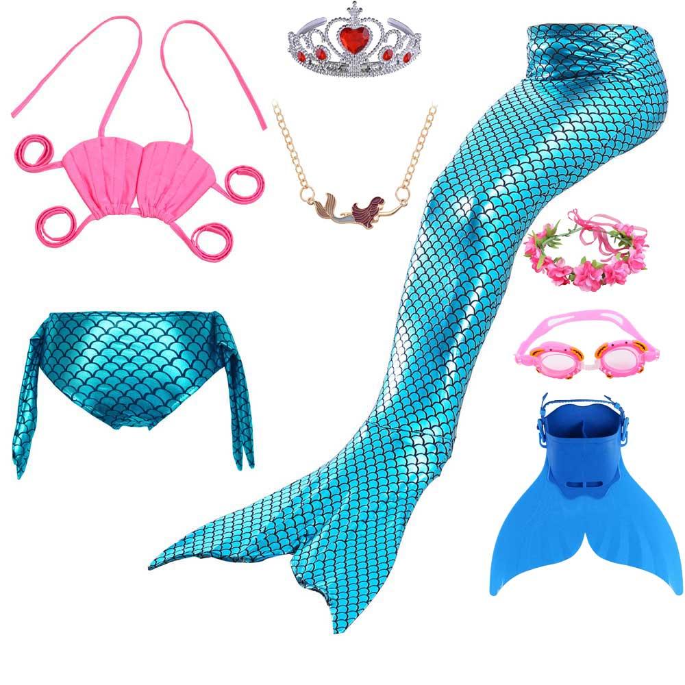 Peixe escala sereia cauda vestido e rendas até biquíni maiô para meninas crianças fotografia cosplay natação traje de sereia