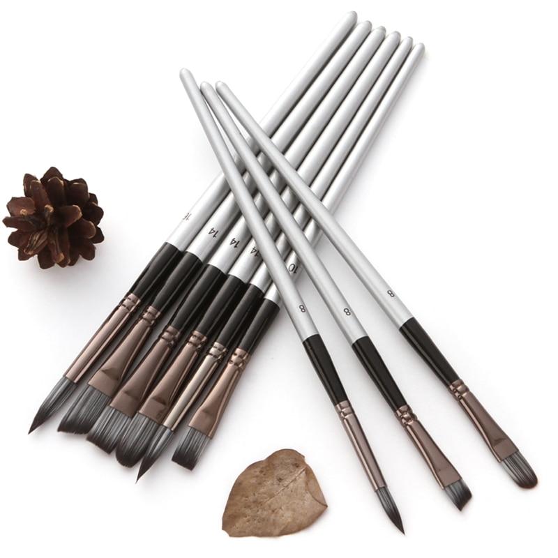 24pcs/set Nylon Hair Wooden Handle Watercolor Paint Brushes Pen Scrubbing Scraper DIY Oil Acrylic Painting Art Craft 32CA