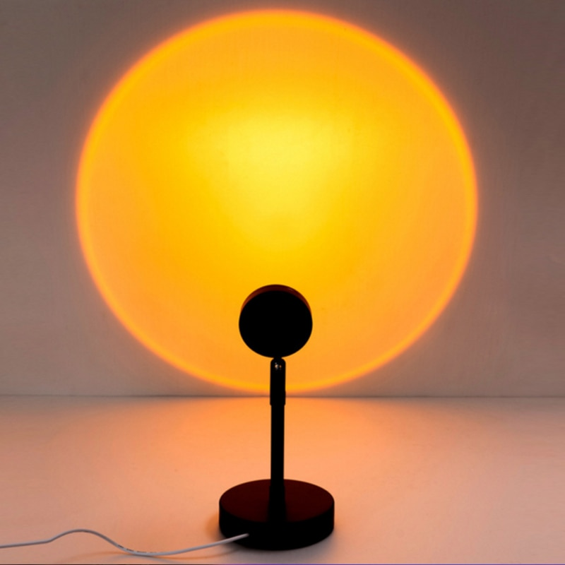 2021 Super Hot Led Night Light USB Button Rainbow Sunset Projector Atmosphere For Home Background Wall Decoration Colorful Lamp  - buy with discount