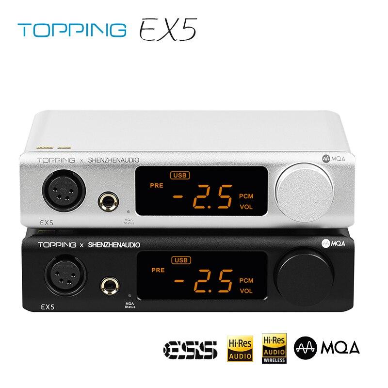 TOPPING EX5 MQA DAC مضخم ضوت سماعات الأذن ES9038Q2M * 2 بلوتوث 5.0 فك مع جهاز التحكم عن بعد