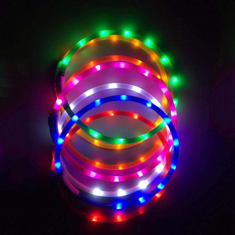 Collar De Mascota Luminoso Con Luz LED Para Perro Recargable a través...