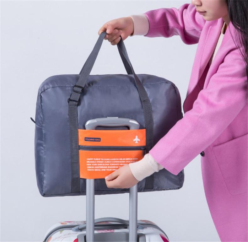 Fashion WaterProof Travel Bag Large Capacity journey duffle Women Nylon Folding Bag Unisex Men Lugga