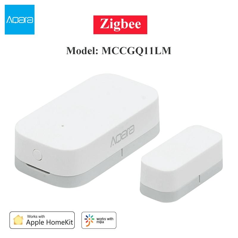 Aqara Zigbee capteur capteur de fenêtre de porte intelligente détecter connexion sans fil Mini capteur de fenêtre de porte travail pour Mi Home Apple Homekit