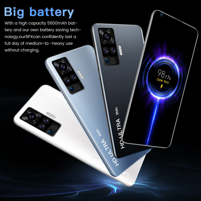 X60 Pro 7.5 Inch 5G LTE SmartPhone 12GB+512GB MTK6799 10-core 5600mAh Dual SIM Phone 21MP+48MP Android Cellphones Original New