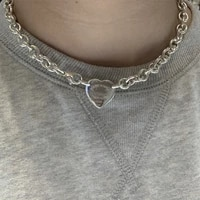 925 silver double hole heart pendant necklace romantic fashion necklace gift for valentine
