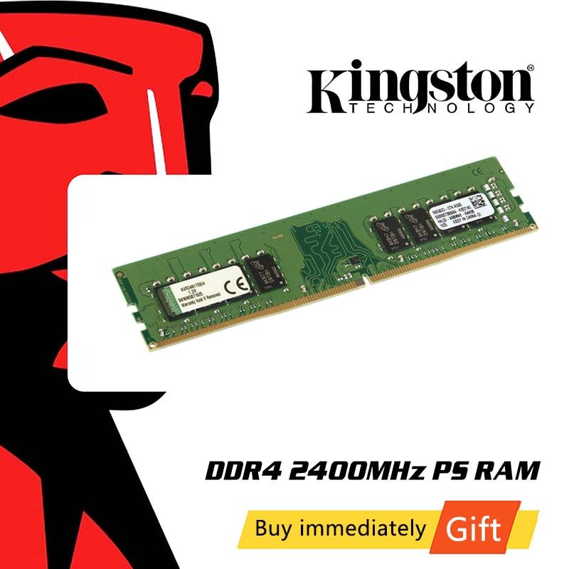 Kingston DDR4 Memoria RAM 2 GB 4GB 8GB 16GB 32 GB 64 GB 2400Mhz Memoria 1,2 V SDRAM 288Pin Intel de Memoria para PC de escritorio