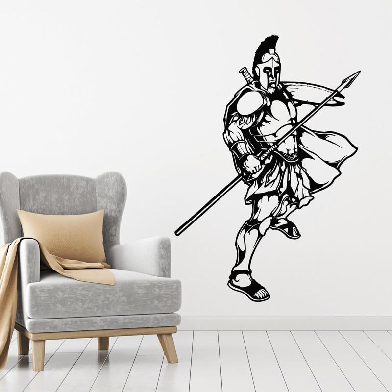 Pegatina de Guerrero para pared, pegatina de soldado de mediana edad, pegatinas militares del Ejército, decoración del hogar, decoración espartana para dormitorio y sala de estar